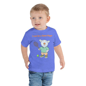 Toddler T-Shirt - Toddler T-Shirt - Joseph Tennis Player - Philippians 4:13