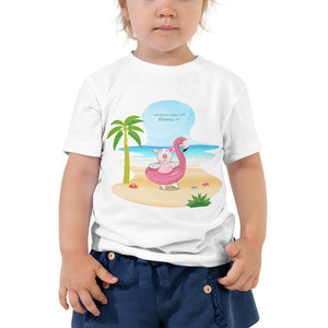 Toddler T-Shirt - Toddler T-Shirt - Joy Flamingo Beach - Philippians 4:1
