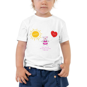 Toddler T-Shirt - Toddler T-Shirt - Joy Goodness & Mercy - Psalm 23:6