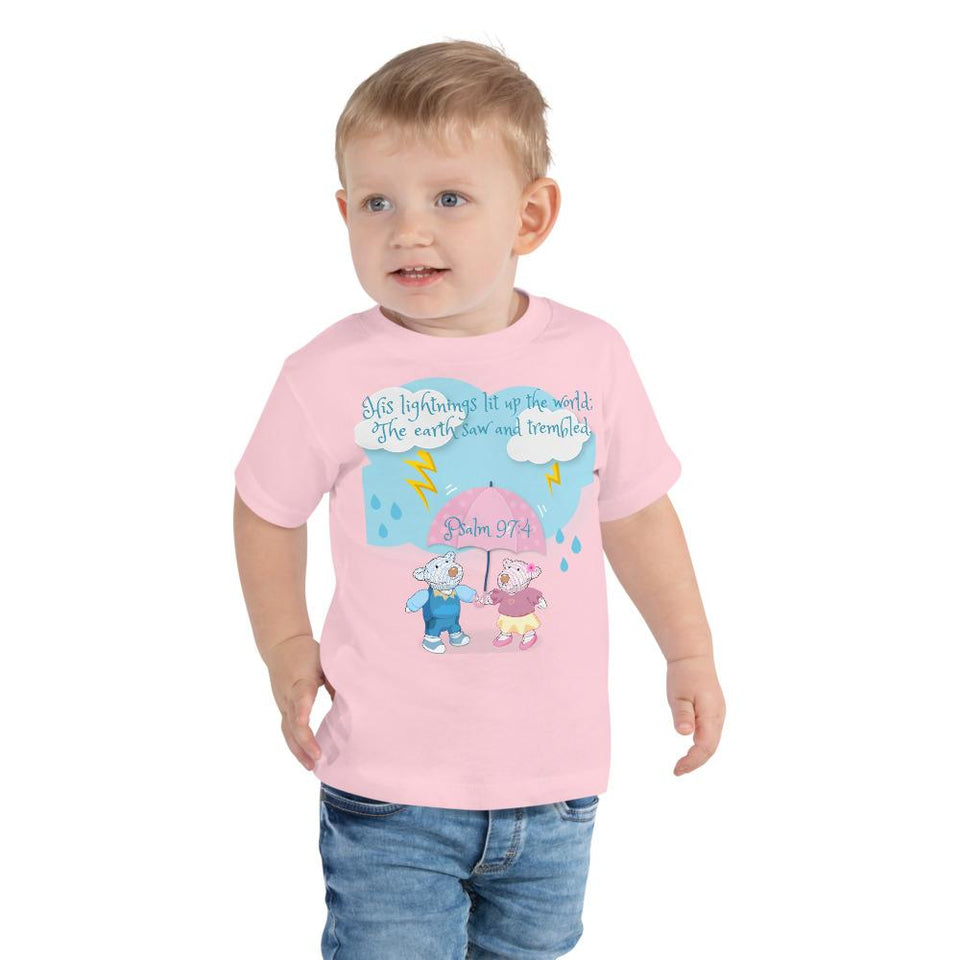 Toddler T-Shirt - Toddler T-Shirt - Joy & Joseph Lightning - Psalm 97:4