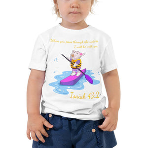 Toddler T-Shirt - Toddler T-Shirt - Joy Paddleboard - Isaiah 43:2