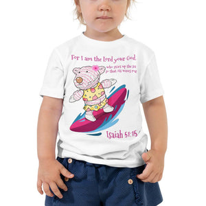 Toddler T-Shirt - TODDLER T-SHIRT - JOY SURFER - ISAIAH 51:15