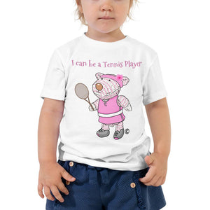 Toddler T-Shirt - Toddler T-Shirt - Joy Tennis Player - Philippians 4:13
