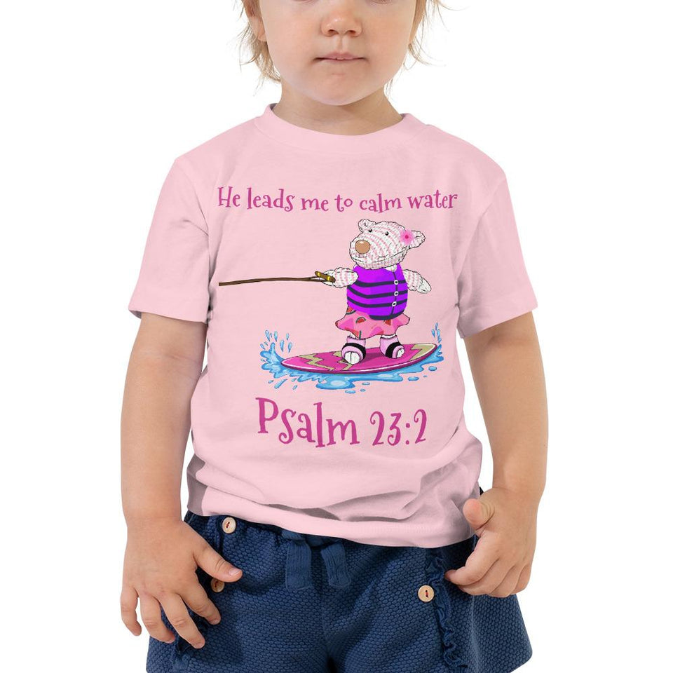 Toddler T-Shirt - Toddler T-Shirt - Joy Wakeboard - Psalm 23:2