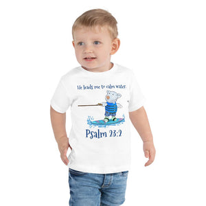 Toddler T-Shirt - Toddler T-Shirt - Wakeboard Joseph - Psalm 23:2