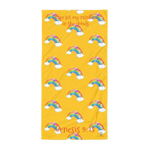 Towel - Yellow Towel - Joy & Joseph Rainbow - Genesis 9:13