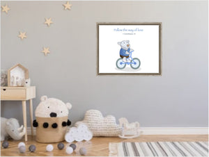 Wall Art - Canvas Wall Art Joseph -  Bike - 1 Corinthians 14