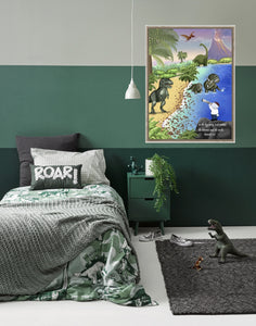 Wall Art - Wall Art Joseph And Dinosaurs - Genesis 1:1
