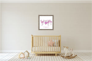 Wall Art - Wall Art Joy Ballerina And Flamingos - Psalm 150:4