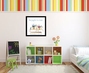 Wall Art - Wall Art Joy & Joseph - Carousel - Romans 12:12