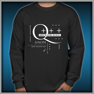 66fc3955e081 Q - Anon – Where We Go One + + + Men s Long Sleeve Shirts