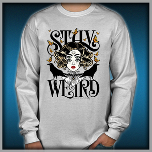 a5752b05f Rose and The Ravens {Stay Weird} Colour Version Men's Long Sleeve Shirts