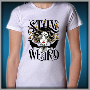 b7a8439ca Rose and The Ravens {Stay Weird} Colour Version Women's T-Shirts