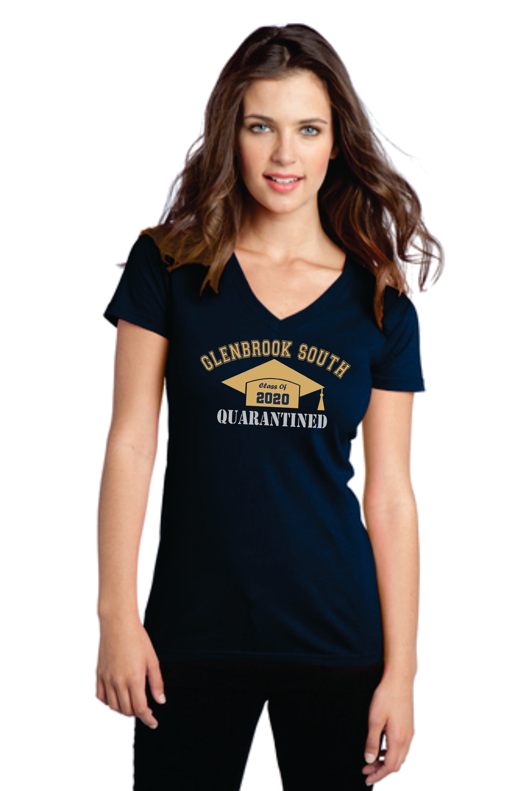 Glenbrook South Class of 2020 Quarantined Grad - Ladies Tee