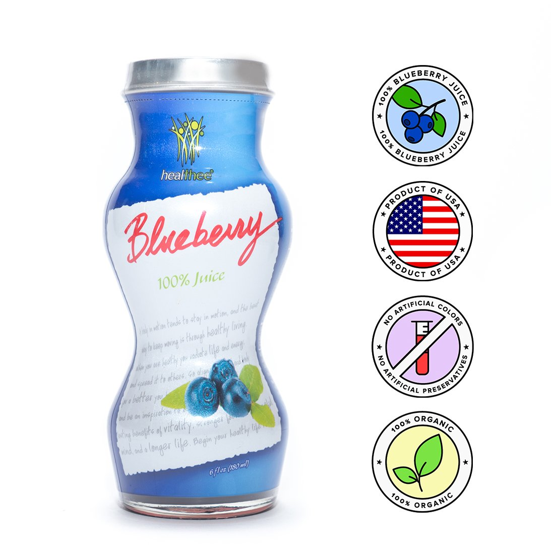 Healthee Blueberry Juice - Natural With No Preservatives, Sugars, or  Additives