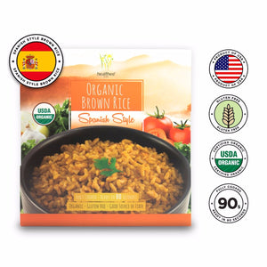 Healthee Organic Spanish Style Brown Rice - Precooked Whole Grain With Nutrients
