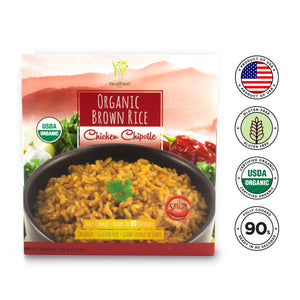 Healthee Organic Chicken Chipotle Brown Rice - Packed With Vitamin Supplements