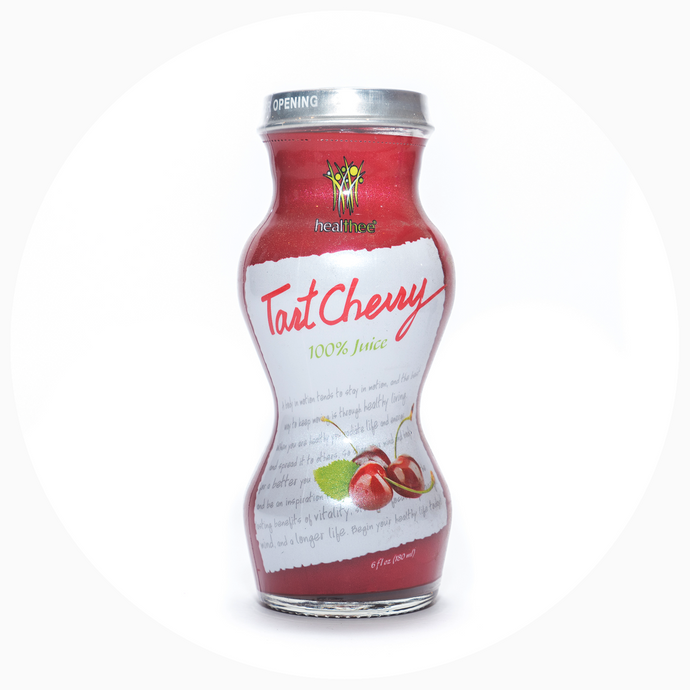 HEALTHEE Cherry Tart Juice - 12 bottles x 180 ml (6 oz.)