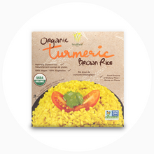 Load image into Gallery viewer, HEALTHEE Organic Turmeric Brown Rice - 12 bowls x 216 grams (7.6 oz.)