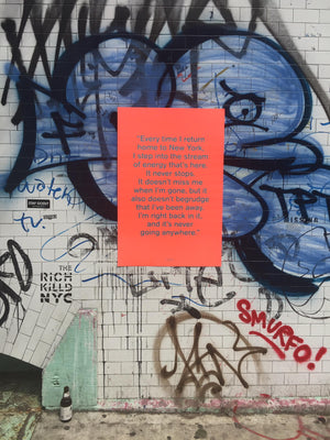 Cover Quote Poster - Quoted NYC Issue 4