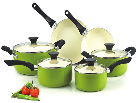 Cook N Home Ceramic 10-Piece Cookware Set