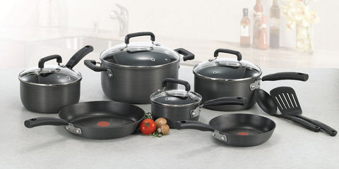 T-fal Hard Anodized 17-Piece Cookware Set