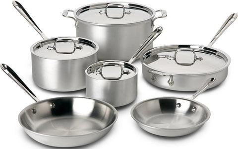 Tramontina Tri-Ply Clad 10-Piece Cookware Set