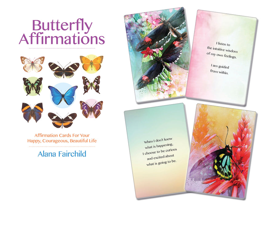 BUTTERFLY AFFIRMATIONS CARDS (INGLES)