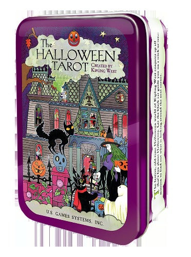 HALLOWEEN TAROT DECK IN A TIN (INGLES)