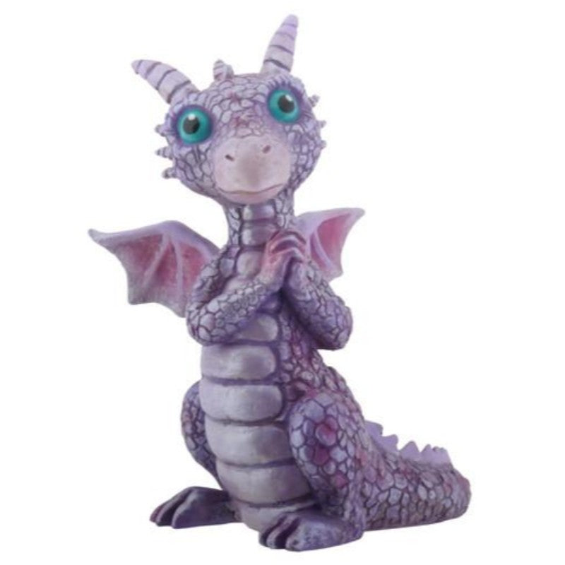FIGURA DRAGON MINI PURPURA Y ROSA 9CM