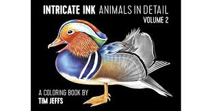 INTRINCATE INK ANIMALS IN DETAIL VOL.2 COLORING BOOK