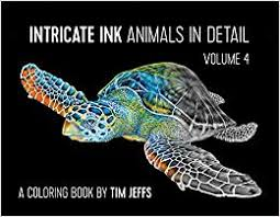 INTRINCATE INK ANIMALS IN DETAIL VOL.4 COLORING BOOK