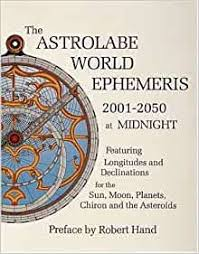 ASTROLABE EPHEMERIS 2001-2050 MIDNIGHT