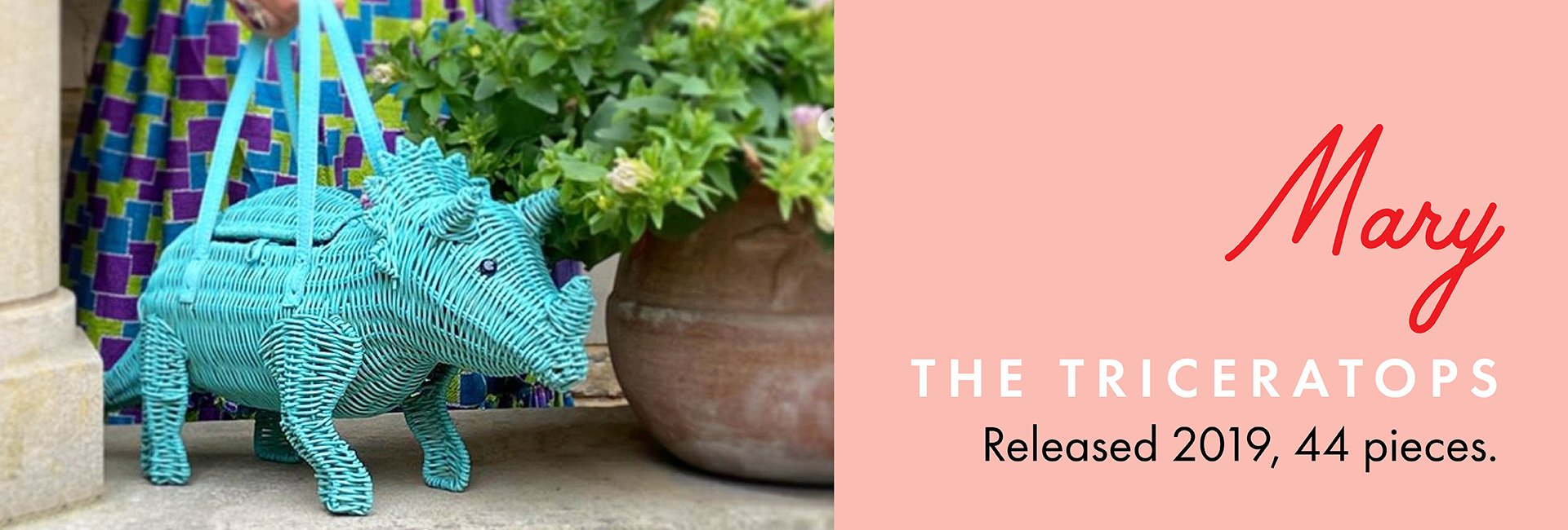 Mary the Triceratops   Wicker Darling