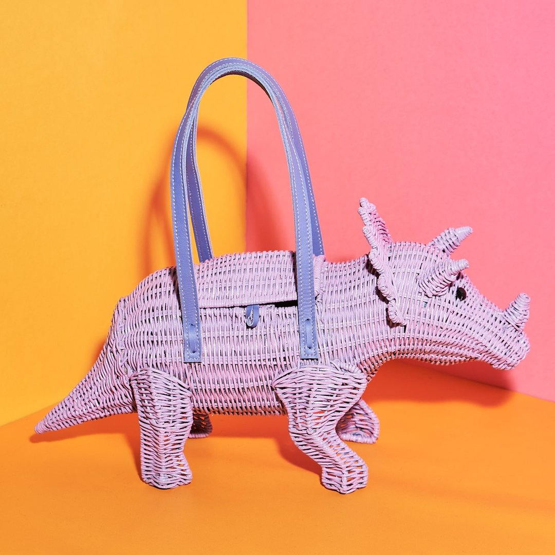Patricia the Lilac Triceratops   Wicker Darling