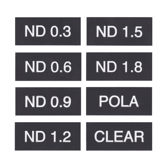 Filter Tags - NDs + CLEAR + POLA Set of 8