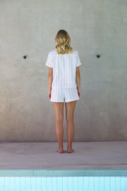 Resort Stripe Short Set | Rose