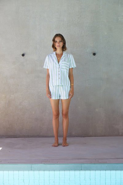 Resort Stripe Short Set | Palm