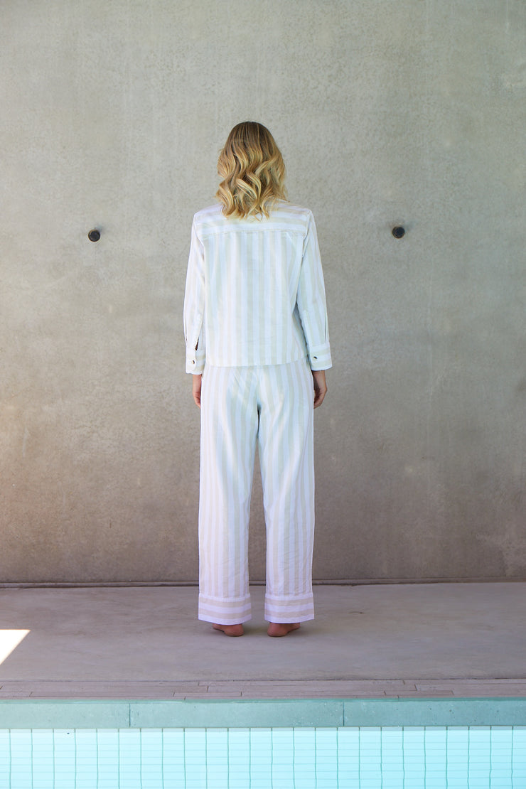Resort Stripe Long Set | Sand