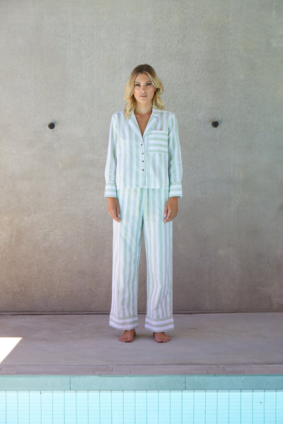 Resort Stripe Long Set | Palm