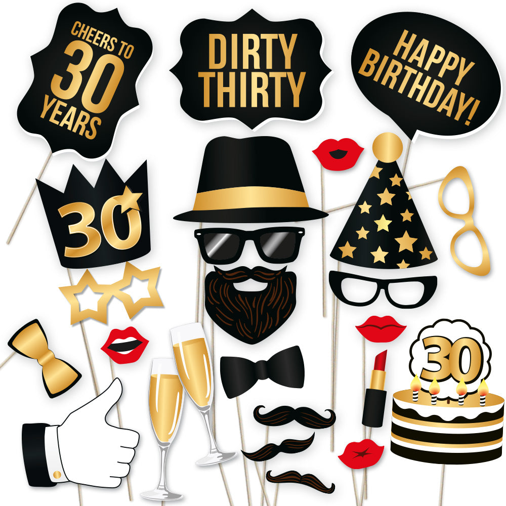 Load Image Into Gallery Viewer 30th Birthday Photo Booth Props