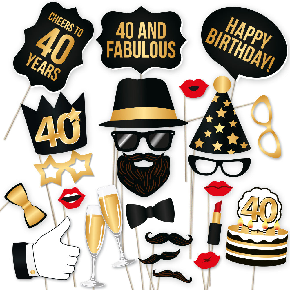 Load Image Into Gallery Viewer 40th Birthday Photo Booth Props