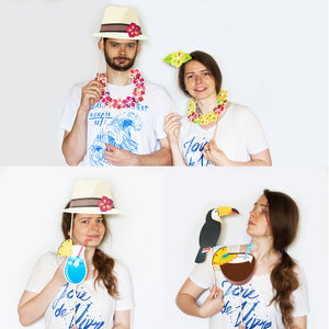 Luau Party Photo Booth Props - 32 Count