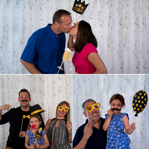 70th Birthday Photo Booth Props - Black and Gold - 34 Count