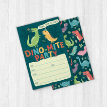 Load image into Gallery viewer, Dinosaur Kids Party Invitation Cards with Envelopes - 25 Count