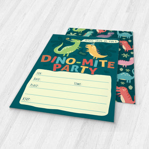 Dinosaur Kids Party Invitation Cards with Envelopes - 25 Count