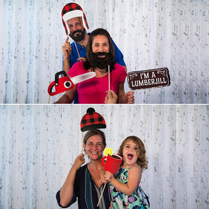 Lumberjack Photo Booth Props - 34 Count