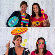 Load image into Gallery viewer, Mexican Fiesta Photo Booth Props - 32 Count