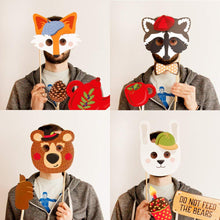 Load image into Gallery viewer, Woodland Creature Photo Booth Props - 29 count