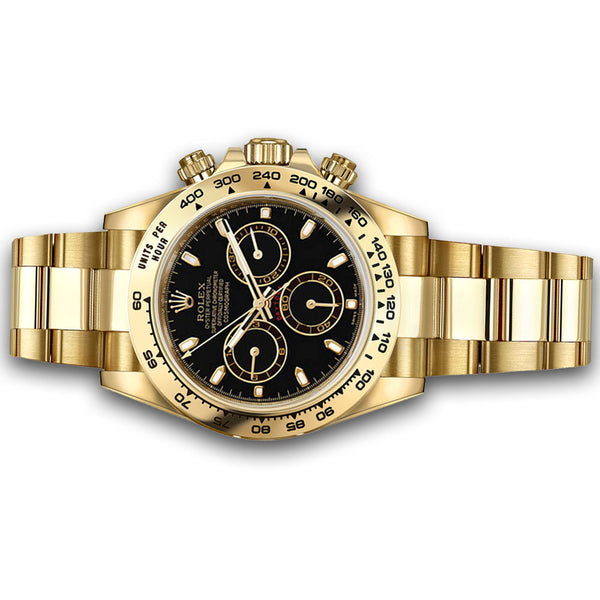 Rolex Cosmograph Daytona Oyster 40 mm Yellow Gold with Black Dial